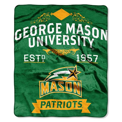 George Mason Patriots Label Raschel Throw by Northwest