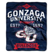 Gonzaga Bulldogs Label Raschel Throw by Northwest