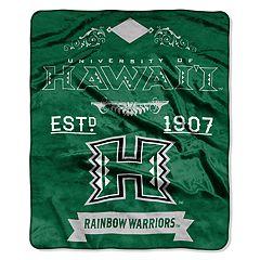 Hawaii Warriors Label Raschel Throw by Northwest