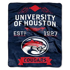 Houston Cougars Label Raschel Throw by Northwest