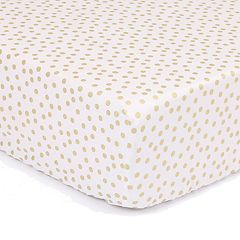 The Peanut Shell All That Glitters Confetti Fitted Crib Sheet