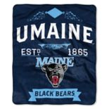Maine Black Bears Label Raschel Throw by Northwest