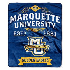 Marquette Golden Eagles Label Raschel Throw by Northwest