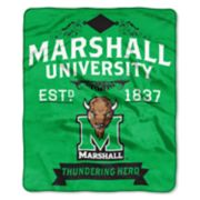Marshall Thundering Herd Label Raschel Throw by Northwest
