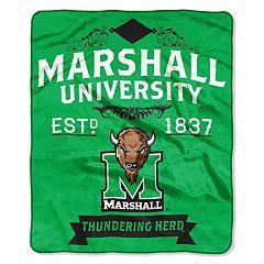 Marshall Thundering Herd Label Raschel Throw by Northwest