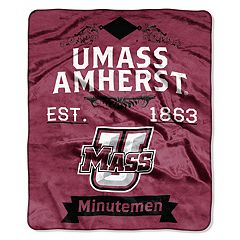 UMass Minutemen Label Raschel Throw by Northwest