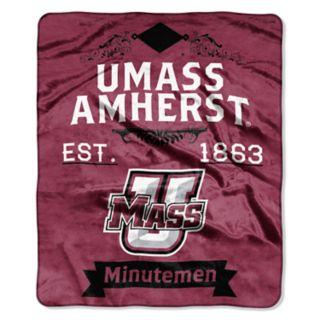 UMass Minutemen Label Raschel Throw by Northwest