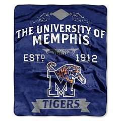 Memphis Tigers Label Raschel Throw by Northwest
