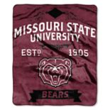 Missouri State Bears Label Raschel Throw by Northwest