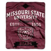Missouri State Bears Label Raschel Throw by Northwest