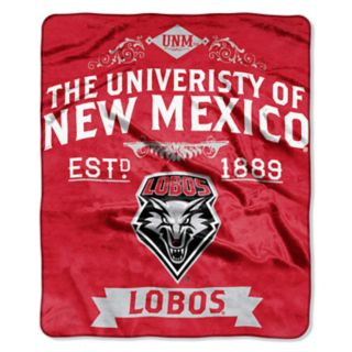 New Mexico Lobos Label Raschel Throw by Northwest