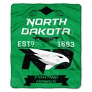 North Dakota Fighting Hawks Label Raschel Throw by Northwest