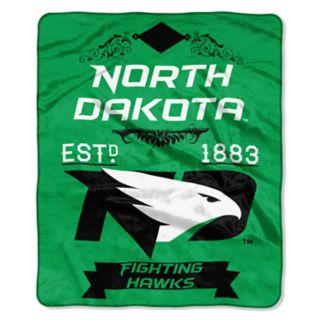 North Dakota Fighting Hawks Label Raschel Throw by Northwest