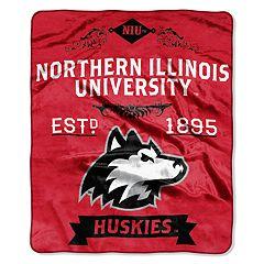 Northern Illinois Huskies Label Raschel Throw by Northwest