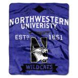 Northwestern Wildcats Label Raschel Throw by Northwest