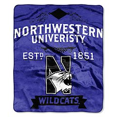 Northwestern Wildcats Label Raschel Throw by Northwest