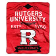 Rutgers Scarlet Knights Label Raschel Throw by Northwest