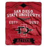 San Diego State Aztecs Label Raschel Throw by Northwest