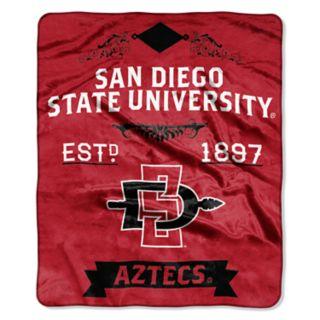San Diego State Aztecs Label Raschel Throw by Northwest