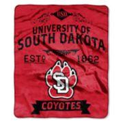 South Dakota Coyotes Label Raschel Throw by Northwest