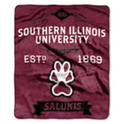 Southern Illinois Salukis Label Raschel Throw by Northwest