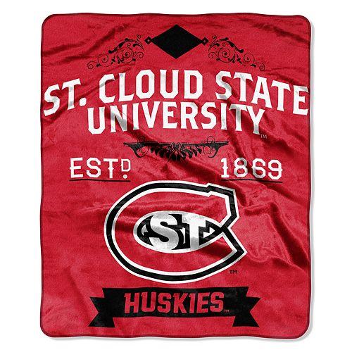 St. Cloud State University Huskies Label Raschel Throw by Northwest