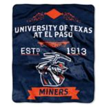 UTEP Miners Label Raschel Throw by Northwest