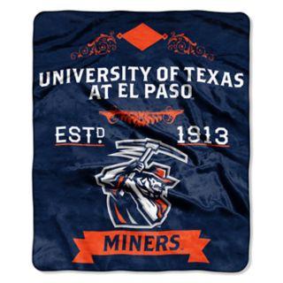 UTEP Miners Label Raschel Throw by Northwest