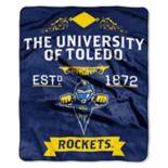 Toledo Rockets Label Raschel Throw by Northwest