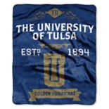 Tulsa Golden Hurricane Label Raschel Throw by Northwest