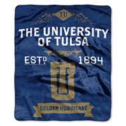 Tulsa Golden Hurricane Label Raschel Throw by Northwest