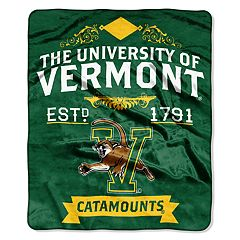 Vermont Catamounts Label Raschel Throw by Northwest
