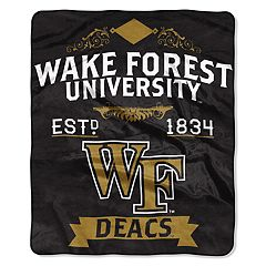 Wake Forest Demon Deacons Label Raschel Throw by Northwest