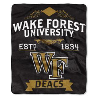 Wake Forest Demon Deacons Label Raschel Throw by Northwest