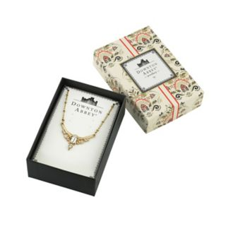 Downton Abbey Simulated Crystal Statement Necklace
