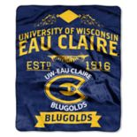 WI-Eau Claire Blugold Label Raschel Throw by Northwest