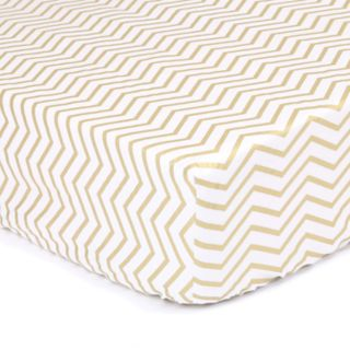 The Peanut Shell All That Glitters Chevron Fitted Crib Sheet