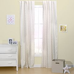 The Peanut Shell All That Glitters Confetti Window Curtain Set