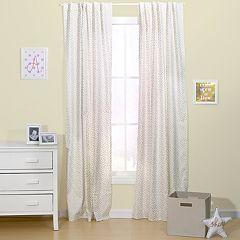 The Peanut Shell All That Glitters Confetti Window Curtain Set