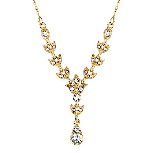 Downton Abbey Simulated Crystal Y Necklace