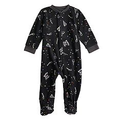 Baby/Infant Jammies For Your Families New Year's Eve Microfleece Party Pattern Blanket Sleeper One-Piece Pajamas
