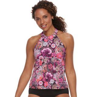 Women's A Shore Fit Hip Minimizer High-Neck Tankini Top