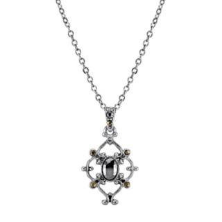 Downtown Abbey Hematite Pendant Necklace