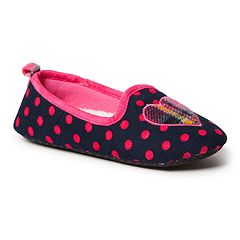 Dearfoams Polka Dot Girls' Slippers