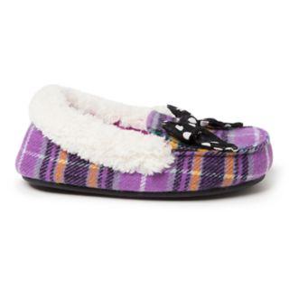 Dearfoams Plaid Girls' Moccasin Slippers