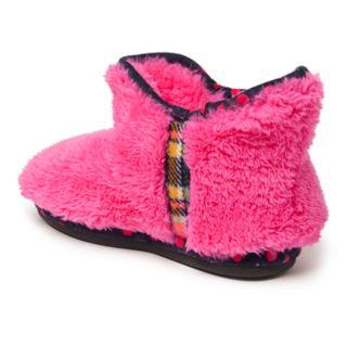 Dearfoams Plaid Girls' Slipper Boots