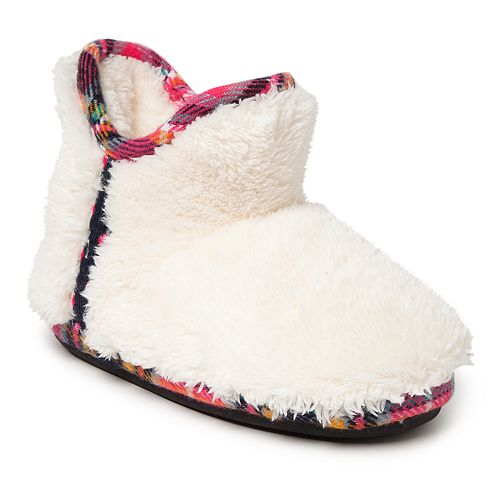9130660ac Dearfoams Plaid Girls' Slipper Boots