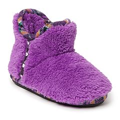 Dearfoams Plaid Girls' Slipper Boots