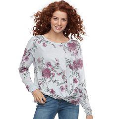 Juniors' Candie's® Twist-Front Sweatshirt