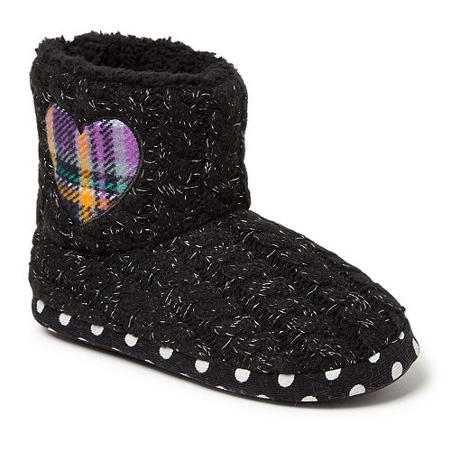 88eefce78 Dearfoams Heart Girls' Slipper Boots